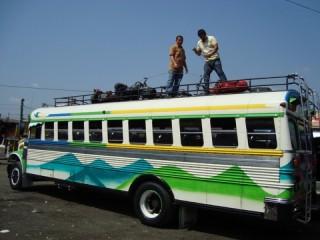 Met de bus/ taking the bus