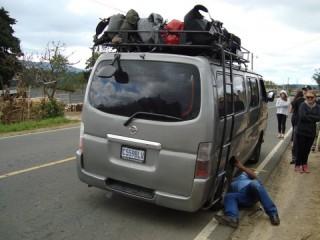 Pech onderweg/ flat tire