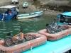 Fietsen in reddingsboot/ bikes in liferaft