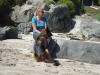 Strandwandeling met hond/ walk with dog