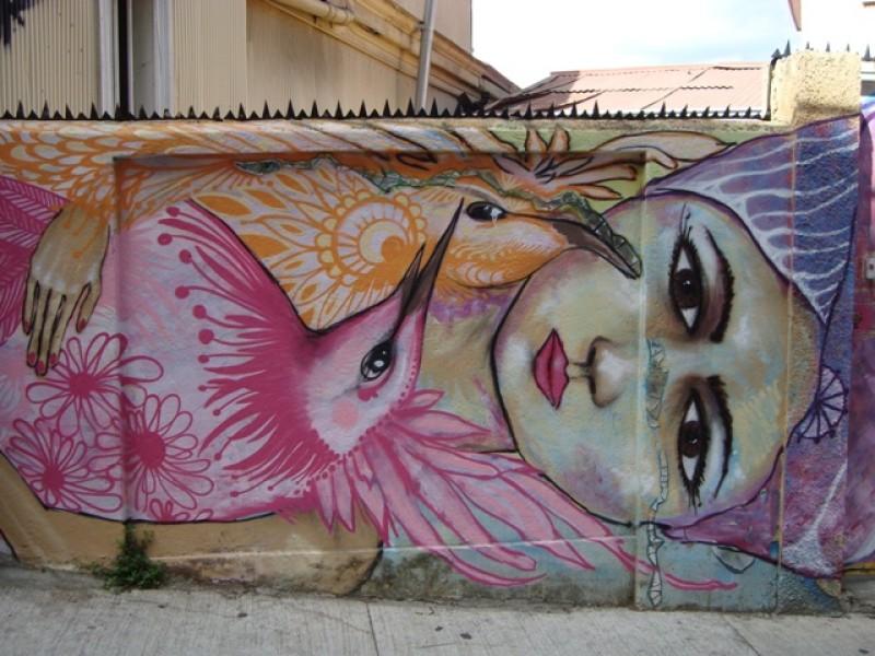 Muurschildering/ wallpainting