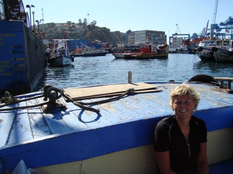 In een bootje/ in a boat